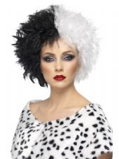 Evil Madam Wig In Black & White